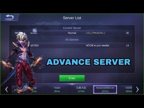Cara Masuk Server Advance di Mobile Legends